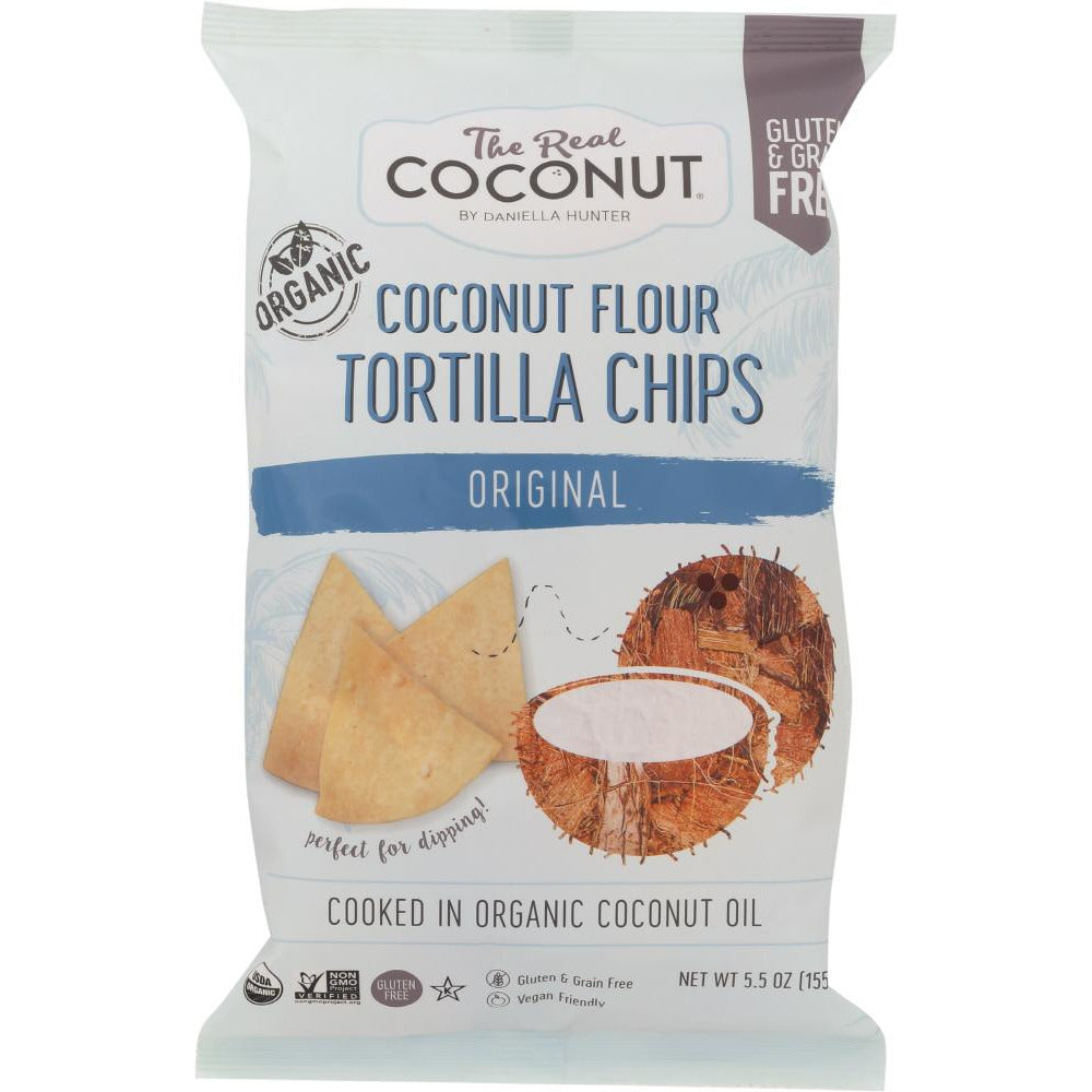 The Real Coconut: Tortilla Flour Coconut Chip,  5.5 Oz