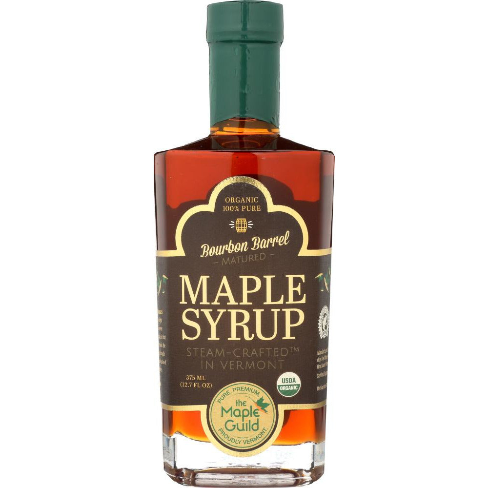 The Maple Guild: Organic Bourbon Barrel Matured Maple Syrup, 12.7 Oz