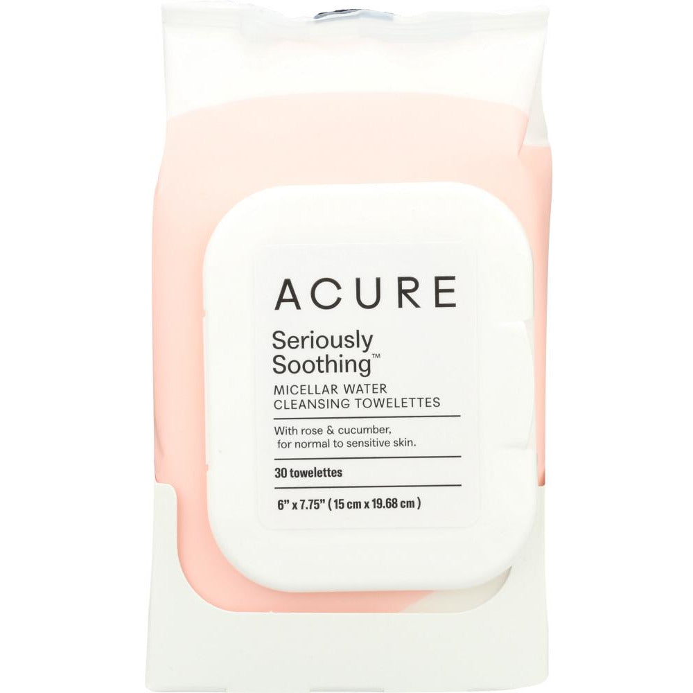 Acure: Soothing Micellar Water Cleansing Towelettes, 30 Towelletes