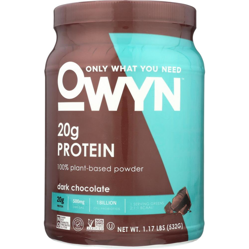 Owyn: Protein Powder Dark Chocolate, 1.2 Lb