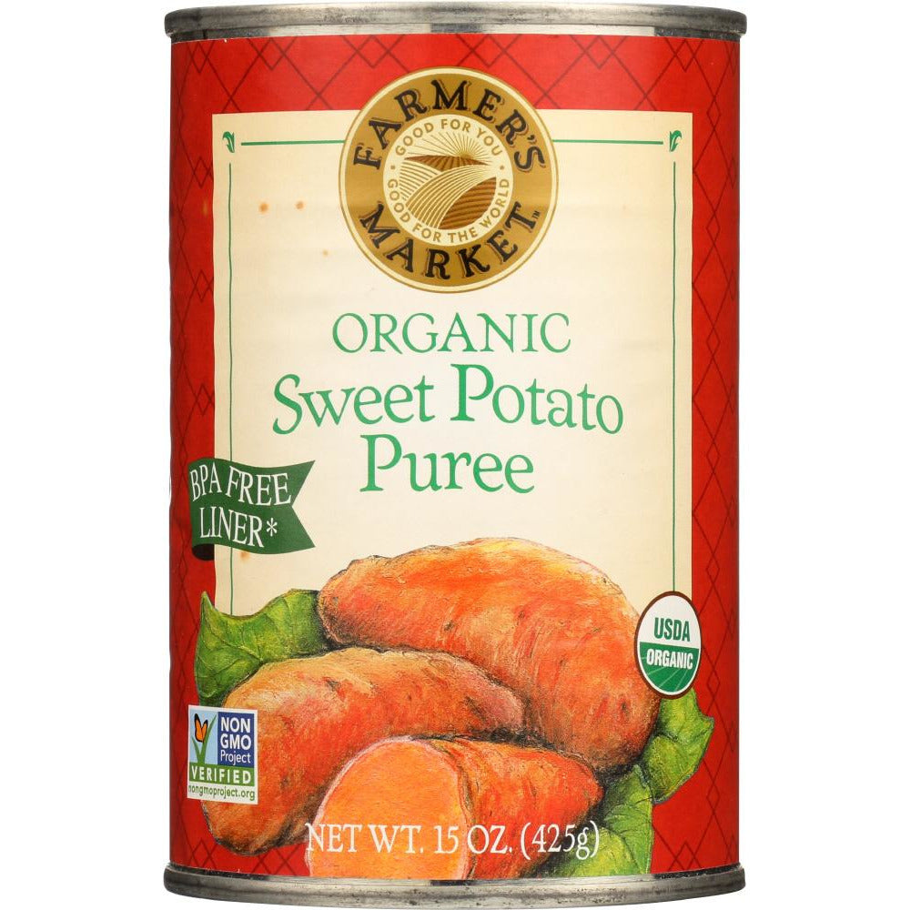 Farmers Market Foods: Organic Sweet Potato Puree, 15 Oz