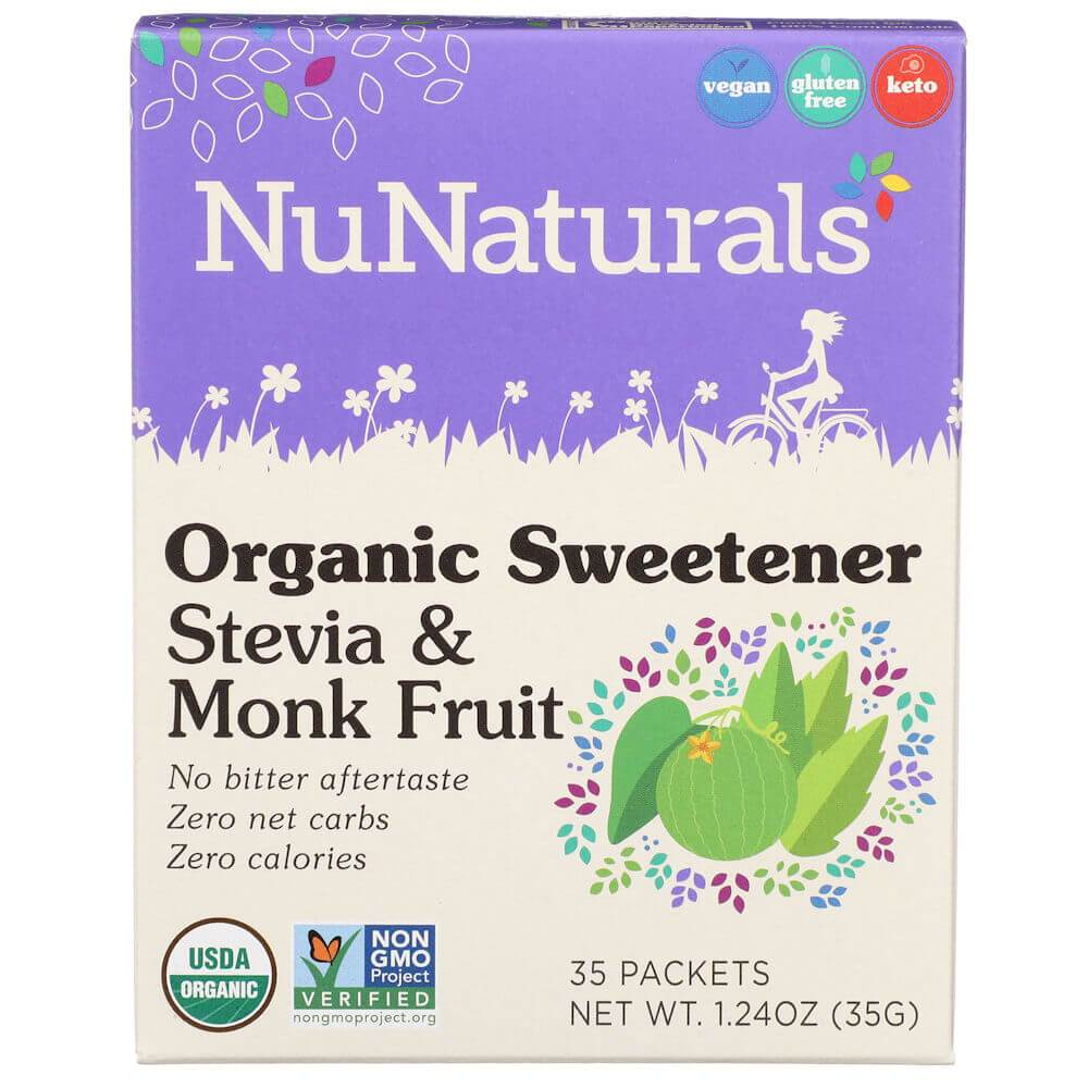 Nunaturals Inc: Organic Sweetener Stevia And Monk Fruit, 35 Pk