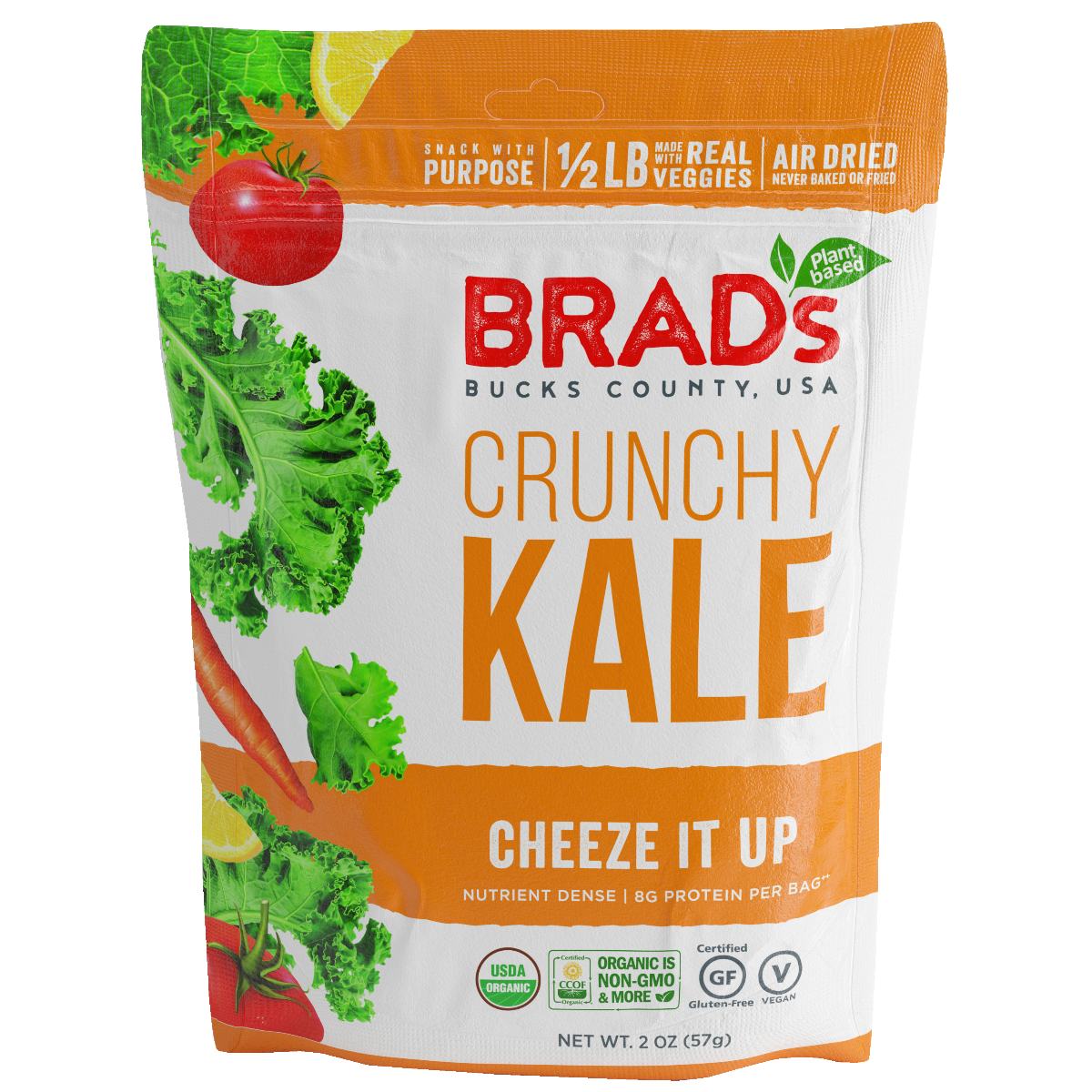 Brads Plant Based: Crunchy Kale Cheeze It Up, 2 Oz