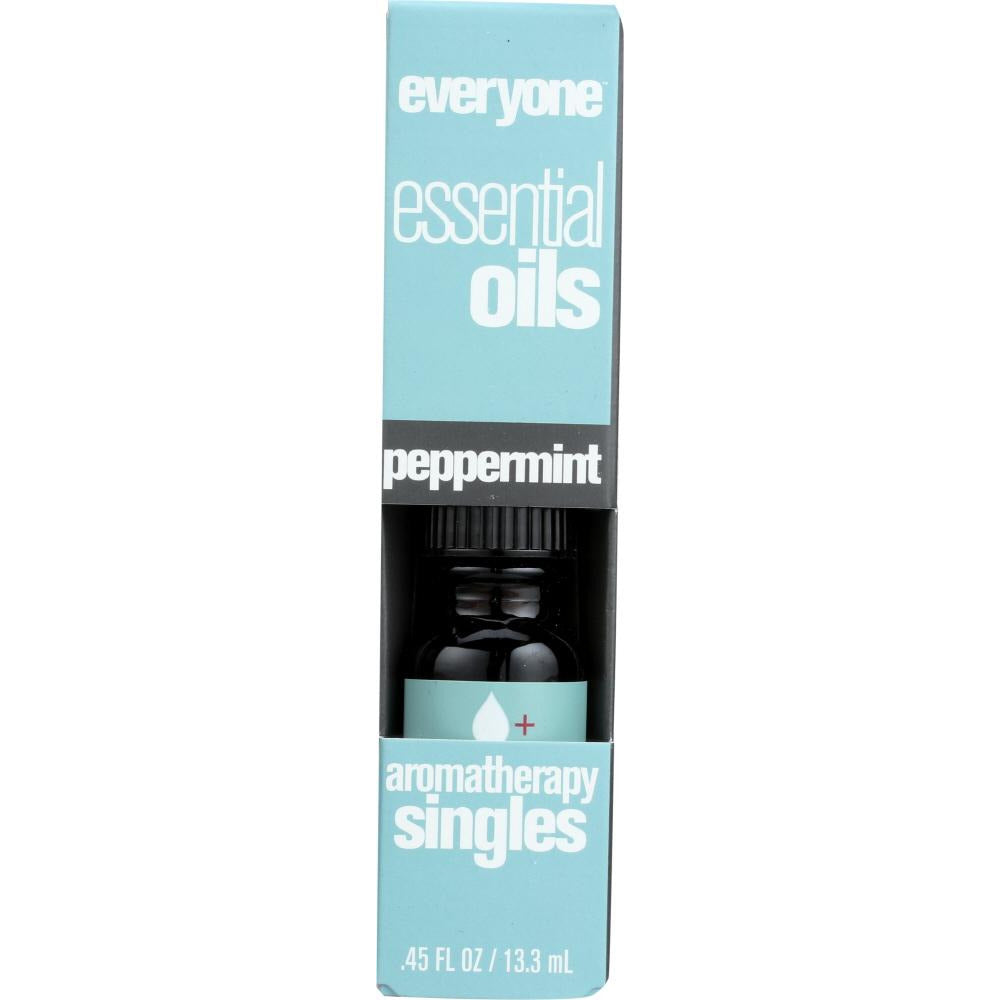 Everyone: Aromatherapy Singles Essential Oil Peppermint, 0.45 Oz