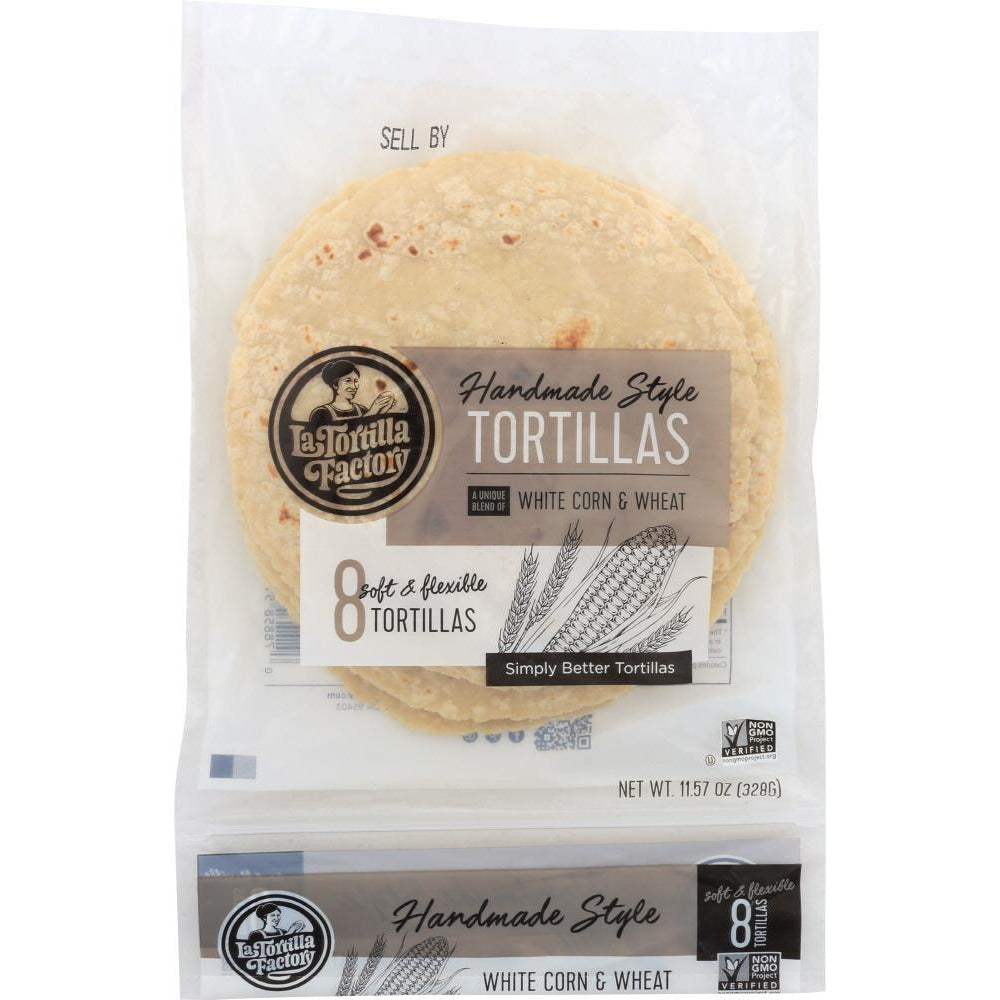 La Tortilla: Factory Handmade White Corn Tortillas, 11.57 Oz