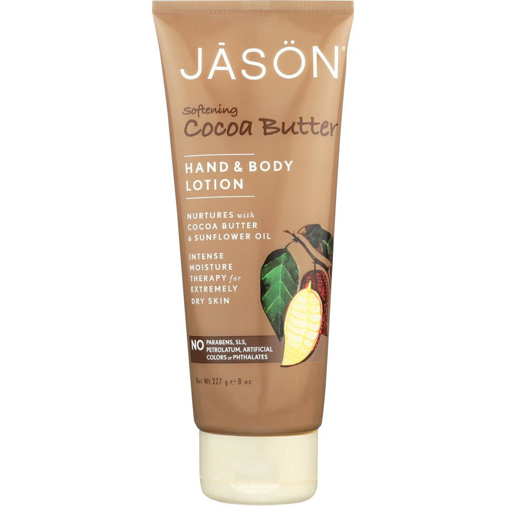 Jason: Hand & Body Lotion Softening Cocoa Butter, 8 Oz