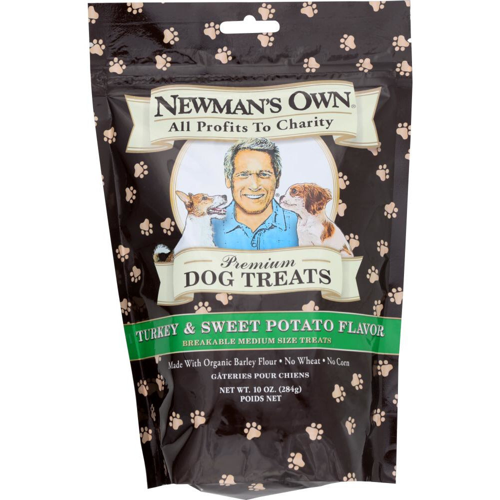 Newman's Own: Premium Dog Treats Turkey And Sweet Potato, 10 Oz