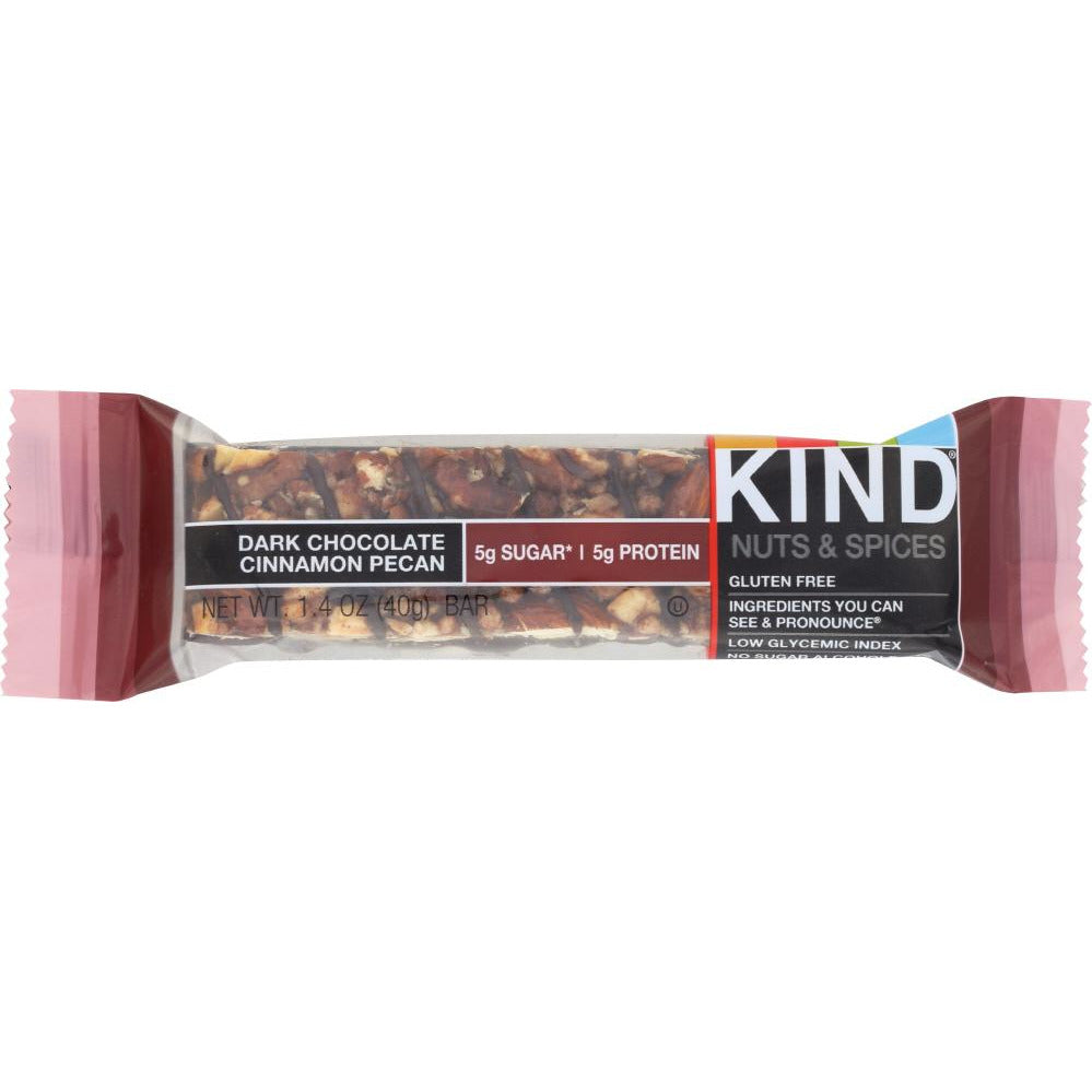 Kind: Nuts And Spices Bar Dark Chocolate Cinnamon Pecan, 1.4 Oz