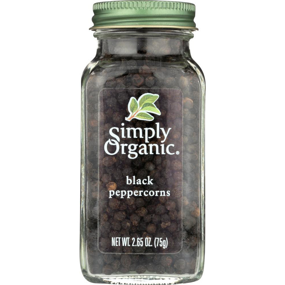 Simply Organic: Black Whole Peppercorns, 2.65 Oz