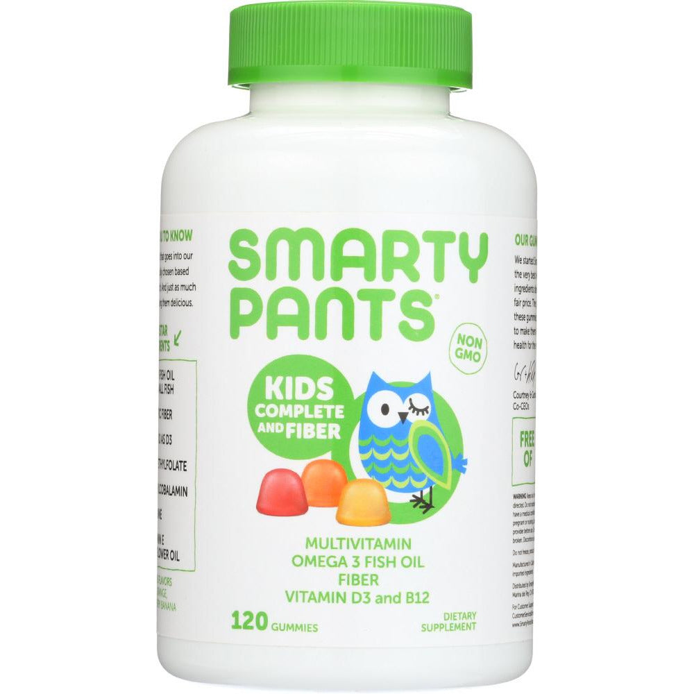 Smartypants: Kids Fiber Complete With No Sugar Added Multi + Omega 3 + Vitamin D, 120 Gummies