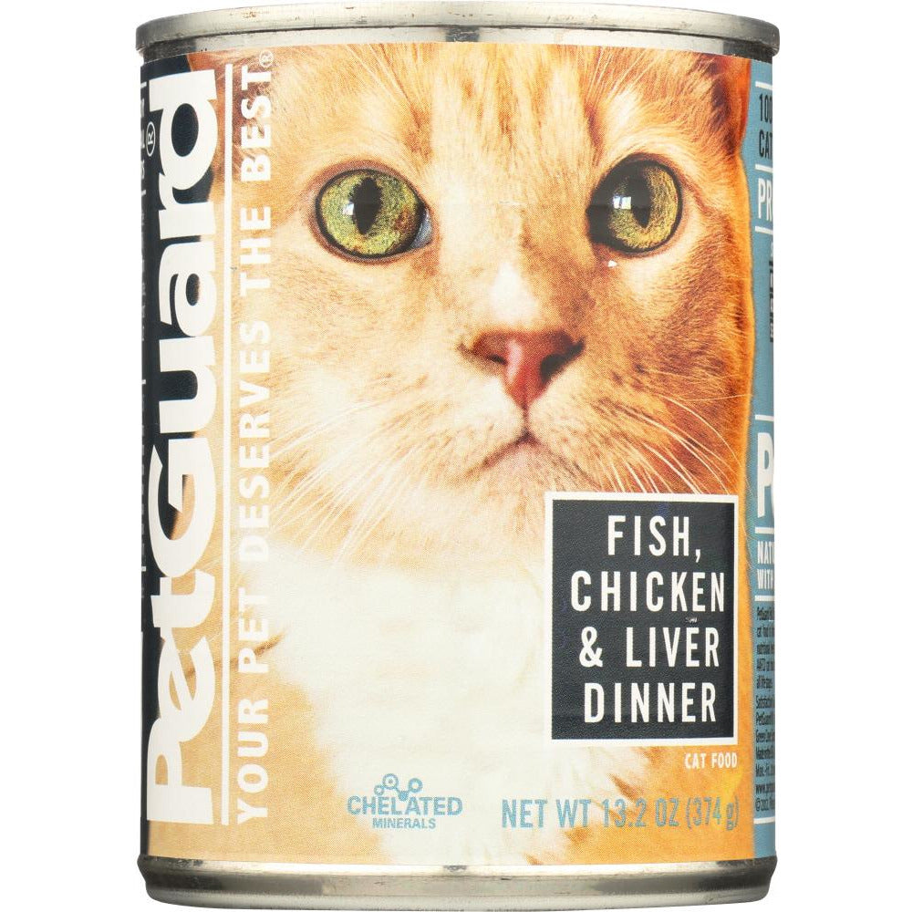 Petguard: Fish, Chicken And Liver Dinner Canned Cat Food, 13.2 Oz