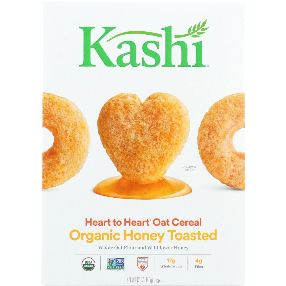 Kashi: Organic Heart To Heart Honey Toasted Oat Cereal, 12 Oz