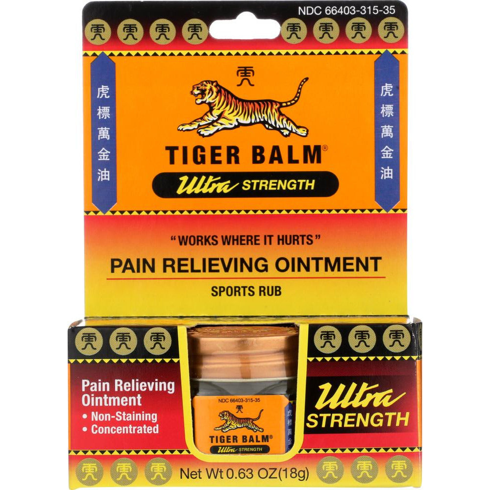 Tiger Balm: Ultra Strength Pain Relieving Ointment, 0.63 Oz