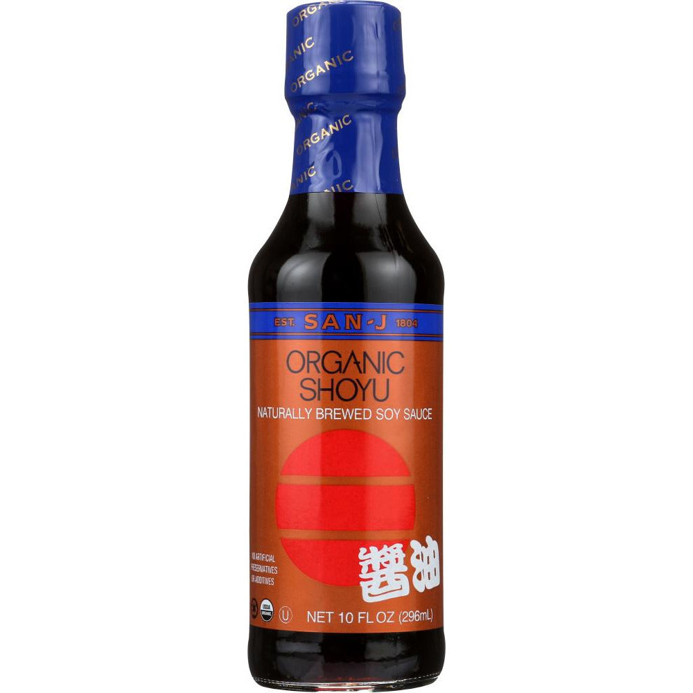 San-j: Organic Shoyu Naturally Brewed Soy Sauce, 10 Oz