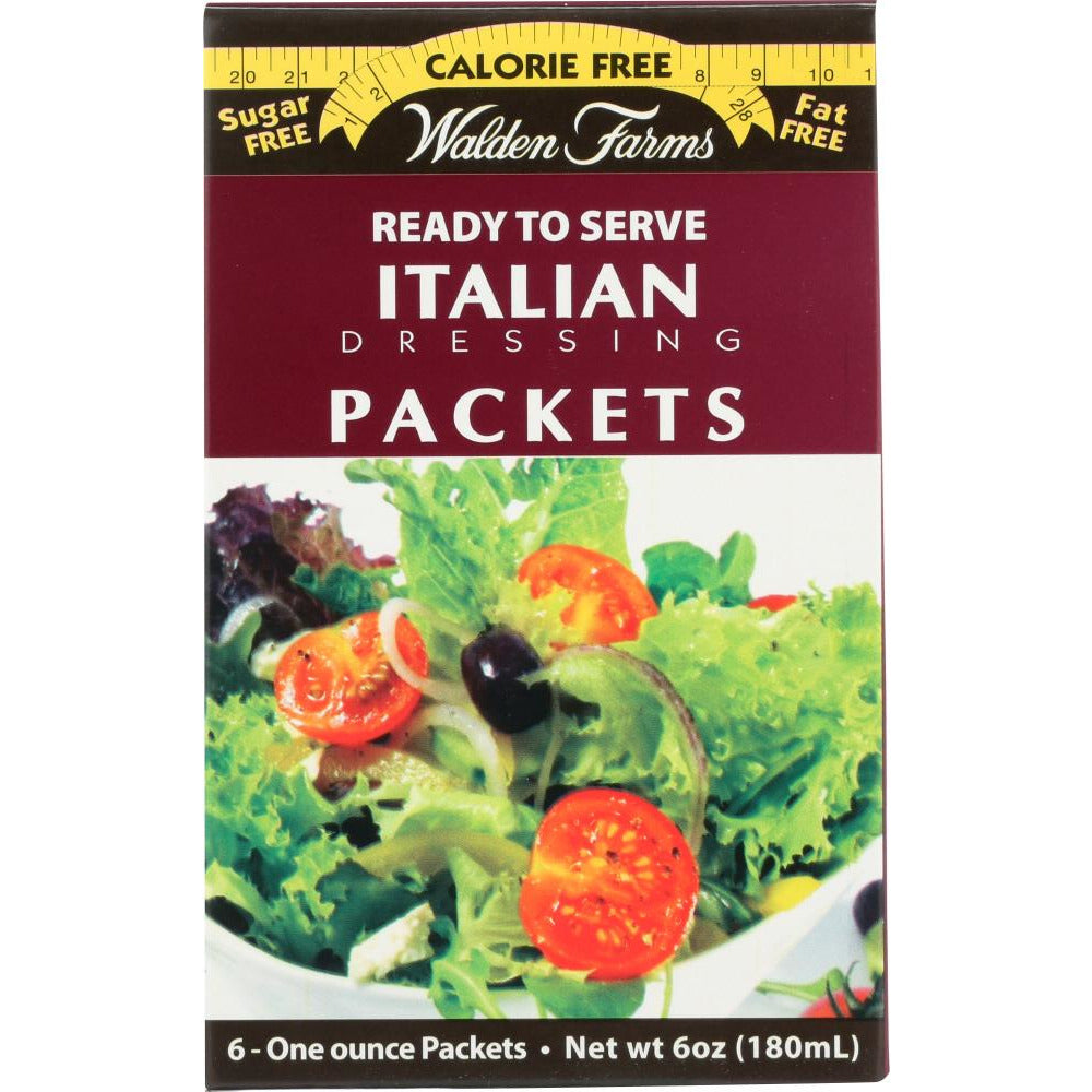 Walden Farms: Calorie Free Italian Dressing 6 Packets, 6 Oz