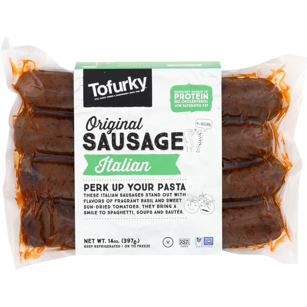 Tofurky: Italian Sausage With Sun-dried Tomatoes & Basil, 14 Oz