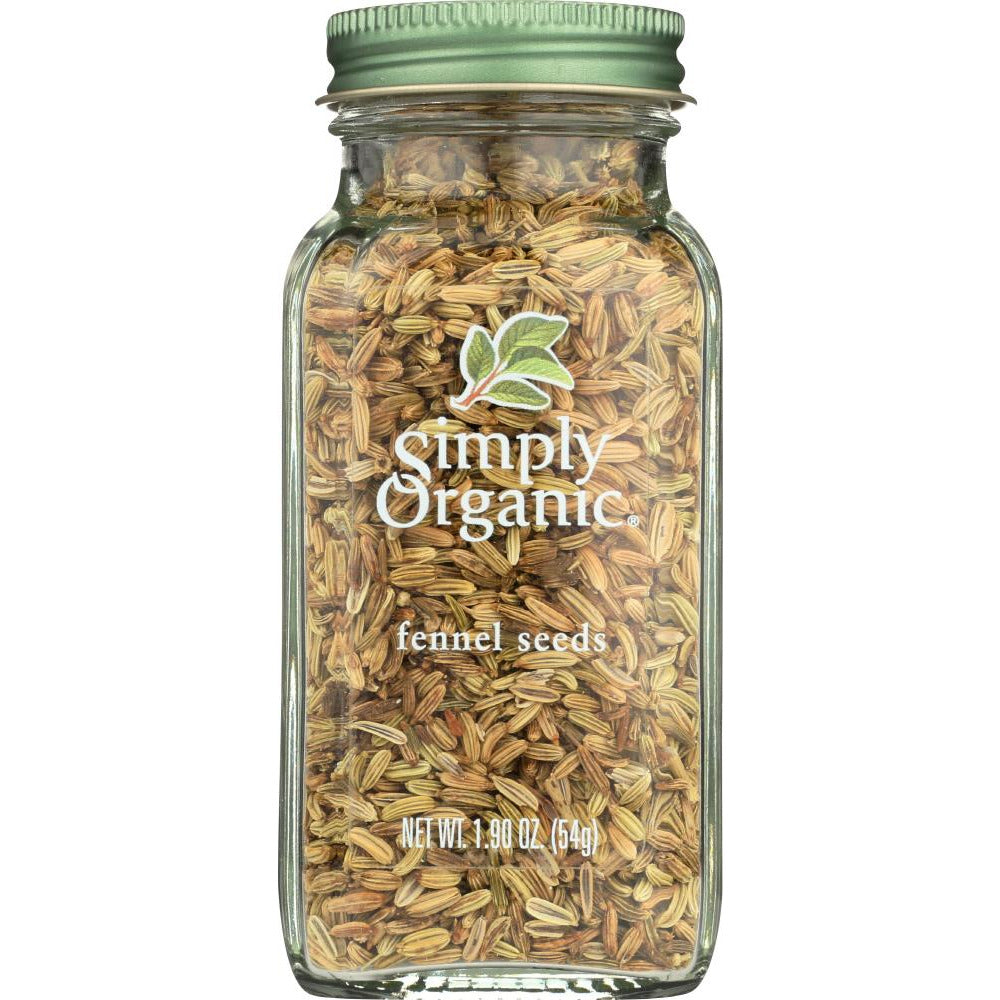 Simply Organic: Fennel Seeds, 1.9 Oz