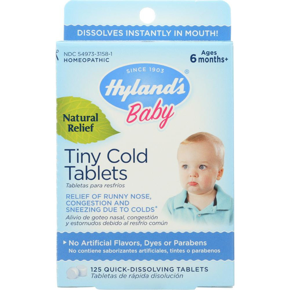 Hyland's: Baby Tiny Cold Tablets, 125 Quick-dissolving Tablets