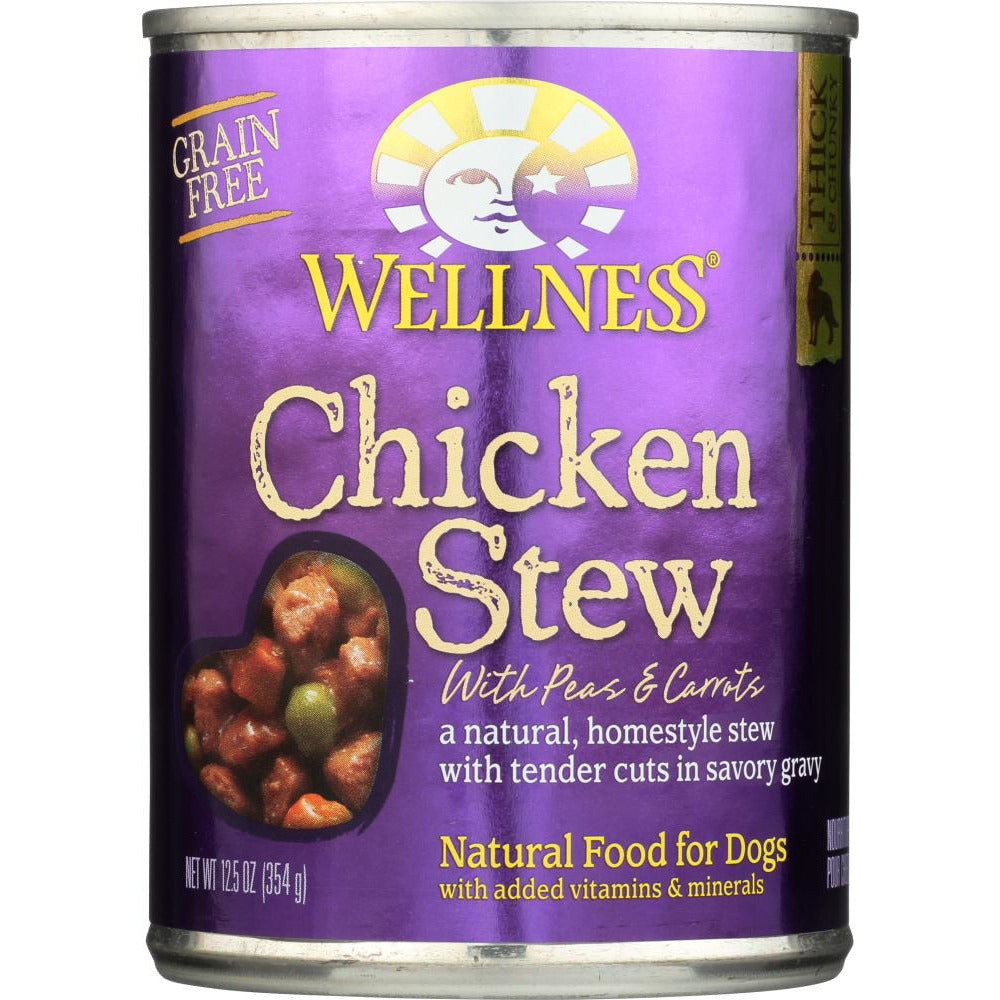 Wellness: Chicken Stew With Peas & Carrots Canned Dog Food, 12.5 Oz