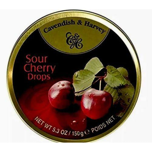 Cavendish & Harvey: Candy Tin Cherry, 5.3 Oz