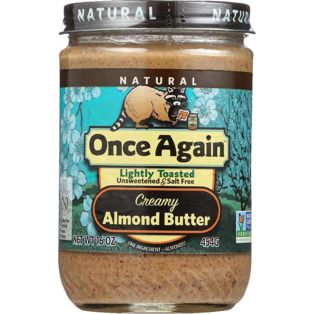 Once Again: Nut Creamy Butter Almond Lightly Toasted, 16 Oz