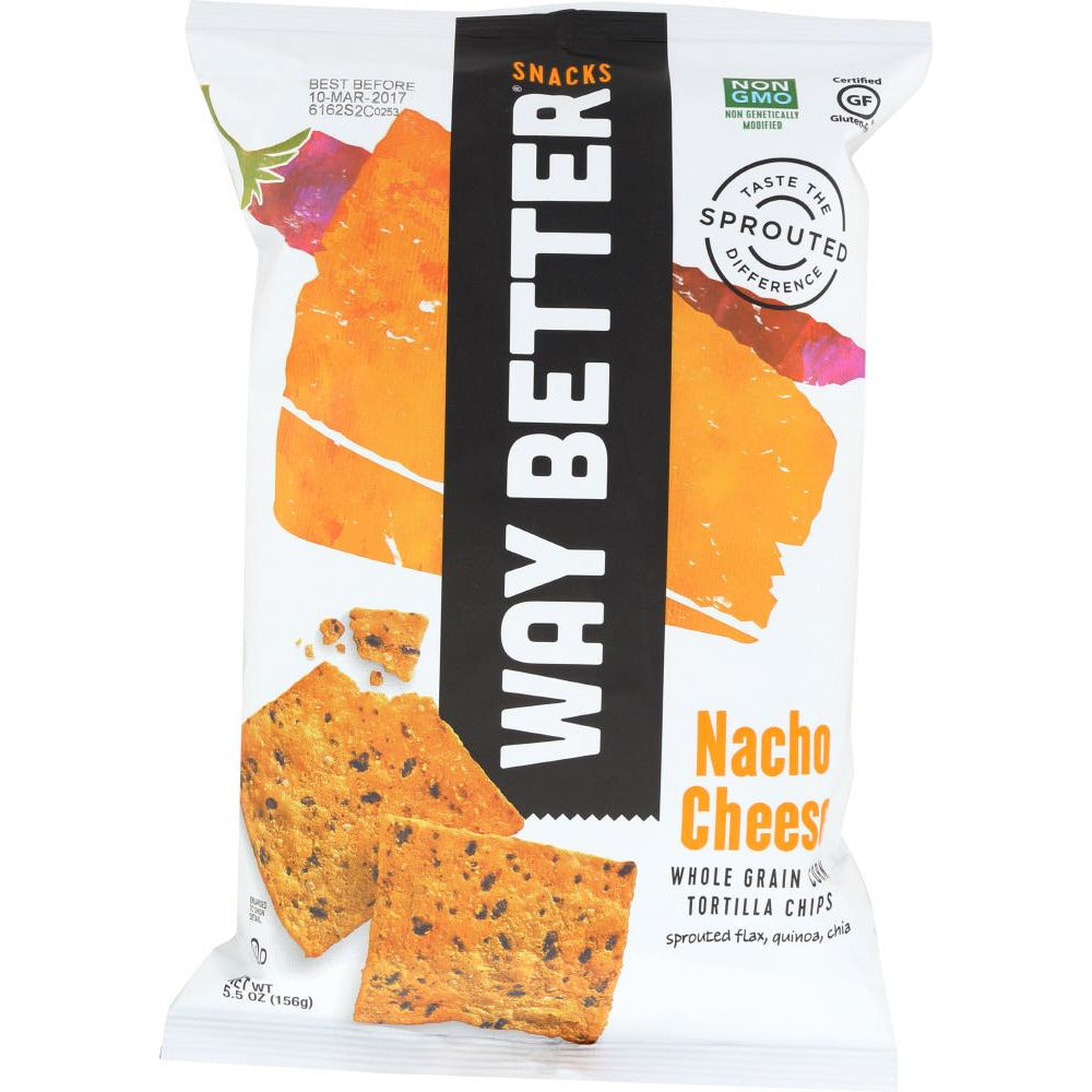 Way Better Snacks: Nacho Cheese Tortilla Chip, 5.5 Oz
