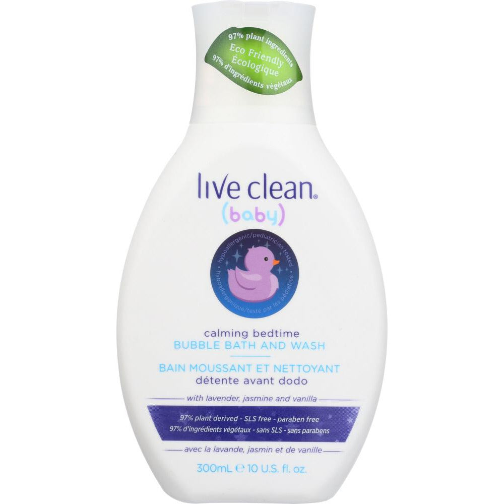 Live Clean: Bubble Bath Baby Bedtime, 10 Oz