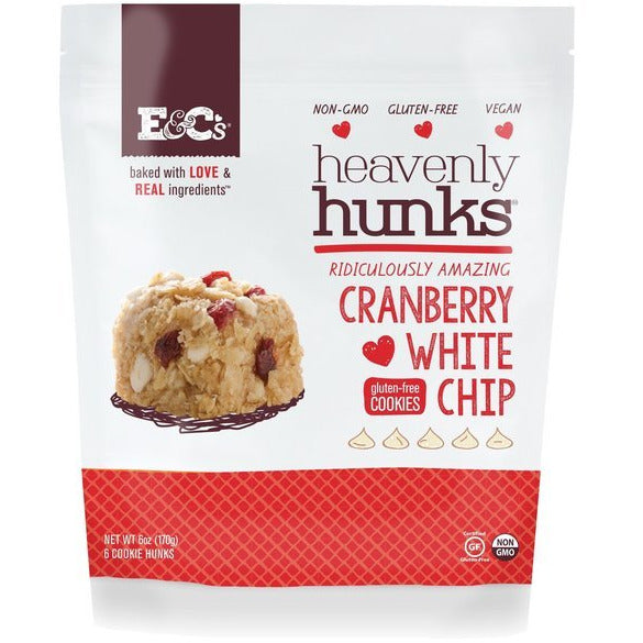 E&cs Snacks: Cranberry White Chip Heavenly Hunk Cookie, 6 Oz