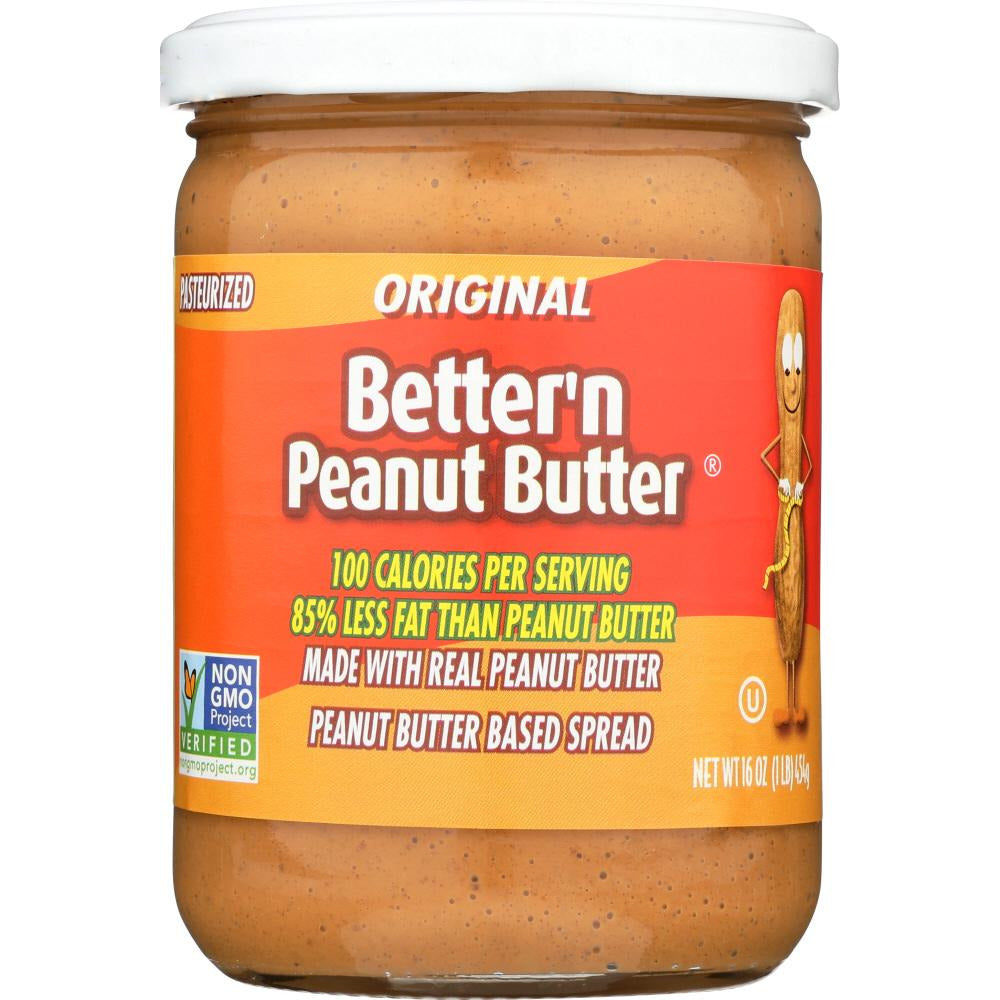 Better N Peanut Butter: Spread Peanut Original Gluten Free, 16 Oz