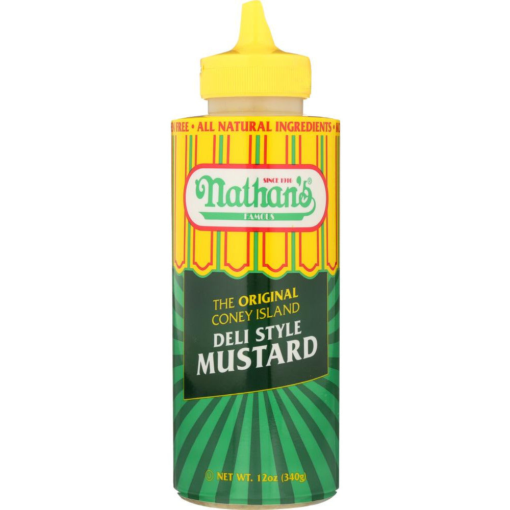 Nathans: Coney Island Mustard Squeeze Bottle, 12 Oz