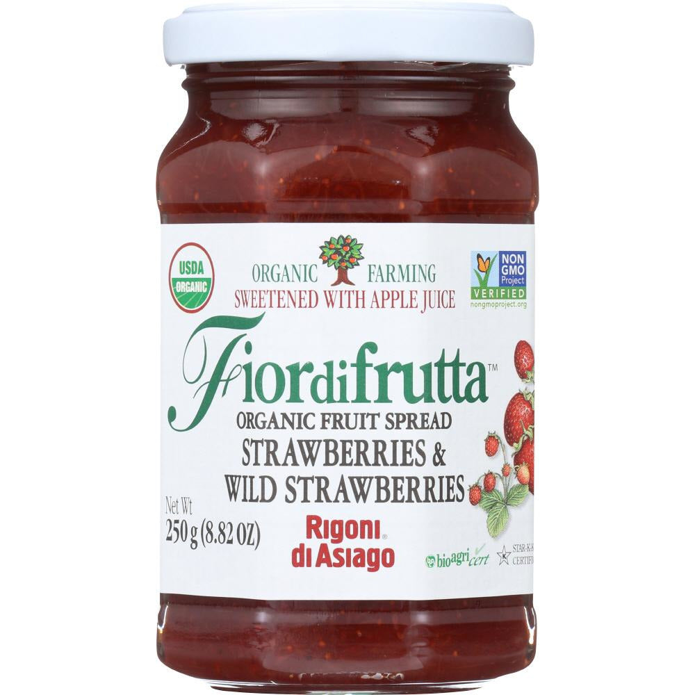 Rigoni: Fiordifrutta Organic Fruit Spread Strawberry, 8.82 Oz