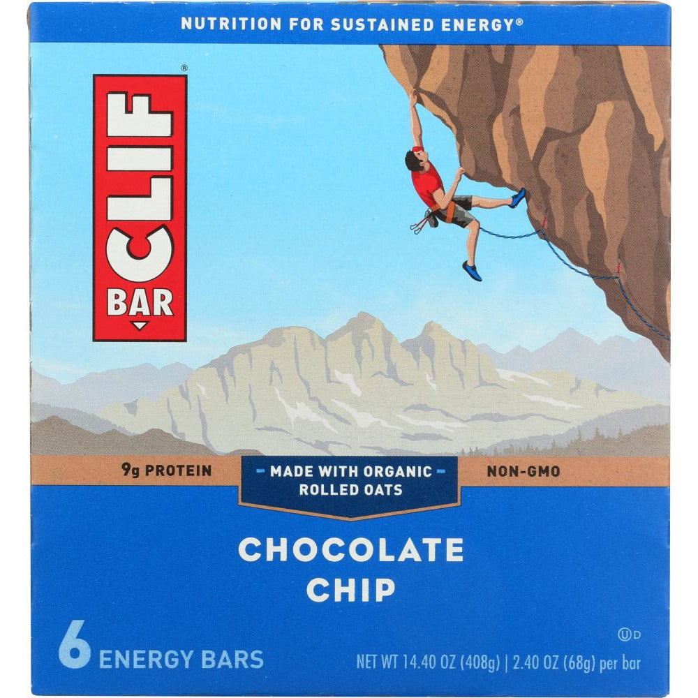 Clif: Bar Chocolate Chip 6 Pc, 14.4 Oz