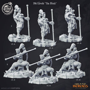 Kiroda The Monk Orc Miniature 3D Printed Miniature Cast N' Play
