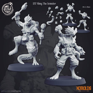 Naag the Inventor Kobold Miniature 3D Printed Miniature Cast N' Play
