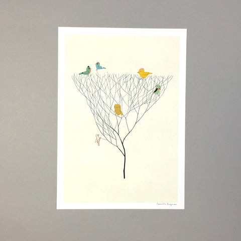 Birds on Tree Camilla Engman illustration art print