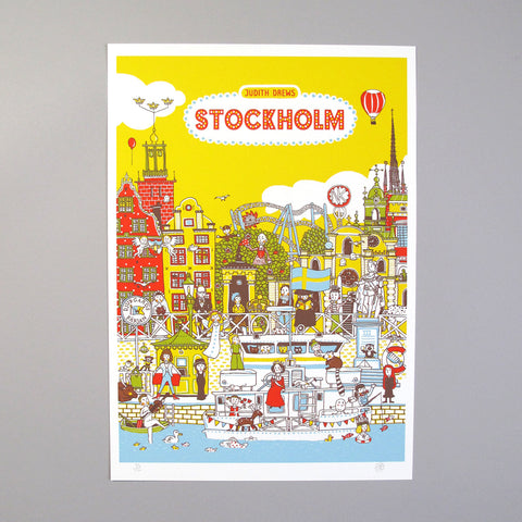 Judith Drews Illustration Art Print Picture book Stockholm Vimmelboken