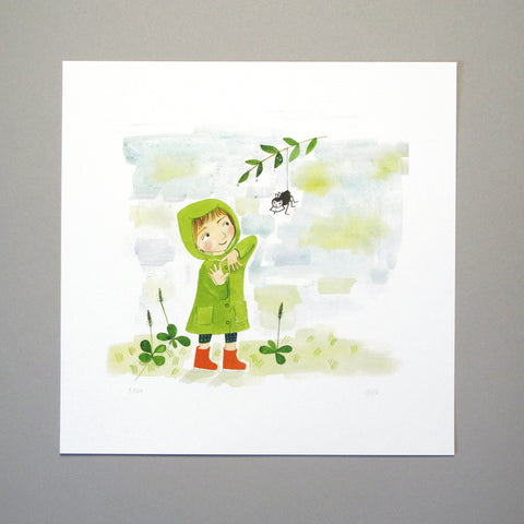 Kristina Digman Illustration Art Print Children's Book Har du sett min Lilla Katt