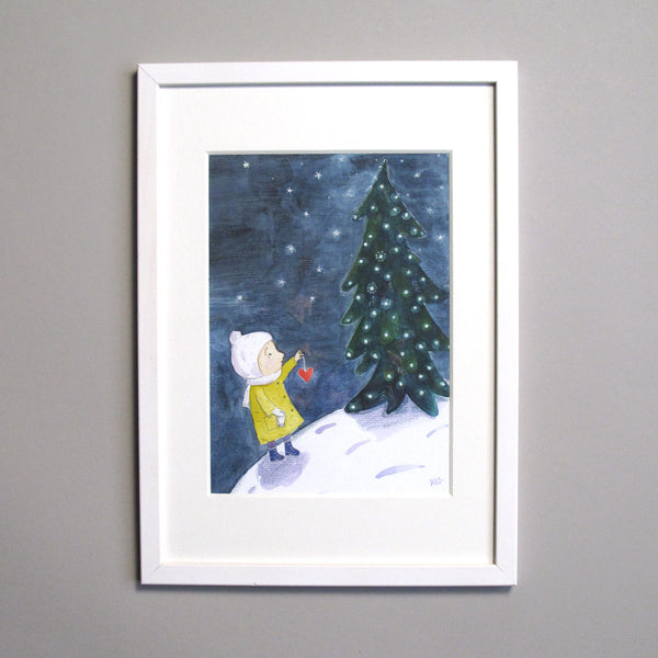 Kristina Digman Christmas Tree illustration original art picture book maker