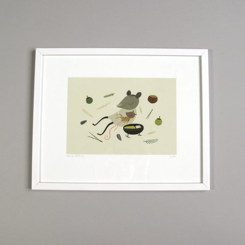 Lena Sjöberg Illustration Art Print Mouse and baby