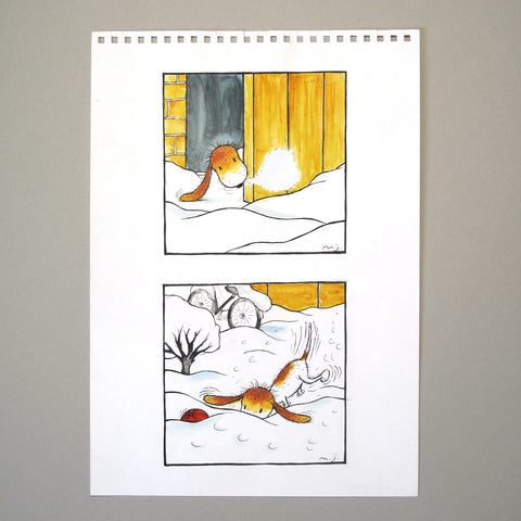 Maria Jönsson Illustration Original Art Children's Book Morris