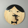 Moa Hoff Illustration Unique Wall Clock wood hand made limited edition