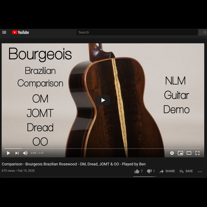 Comparison - Bourgeois Brazilian Rosewood - OM, Dread, JOMT & OO - Played by Ben