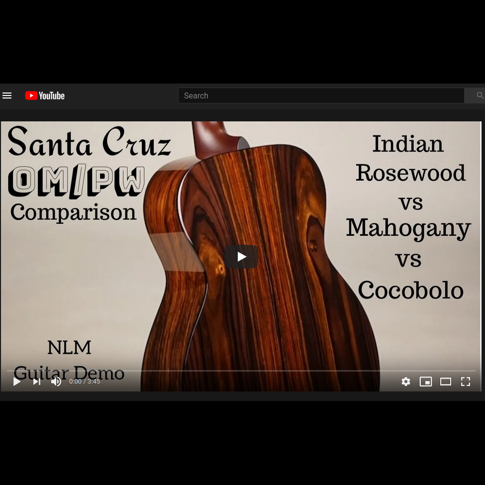 Santa Cruz OM/PW Comparison, Rosewood, Mahogany & Cocobolo played by Ben