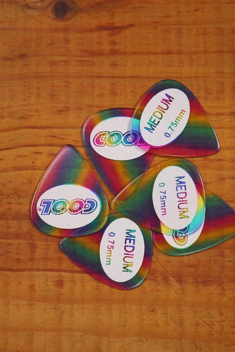 Cool Juratex Picks Rainbow, Pack of 6