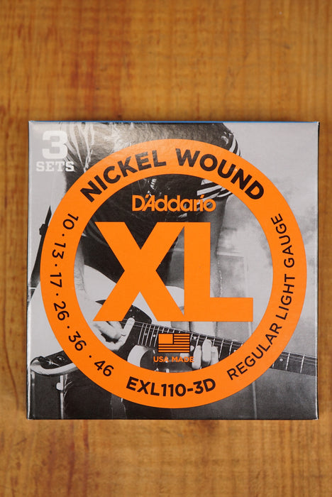 D'Addario EXL110-3D Reg. Light gauge Nickel Wound 10/46