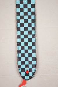 "Henry Heller Checkered Leather 2"" Blue"