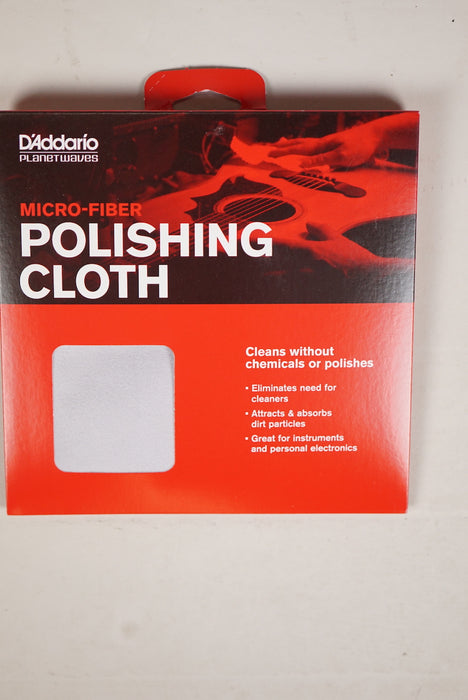 D'Addario Micro Fiber Polishing Cloth PW-MPC