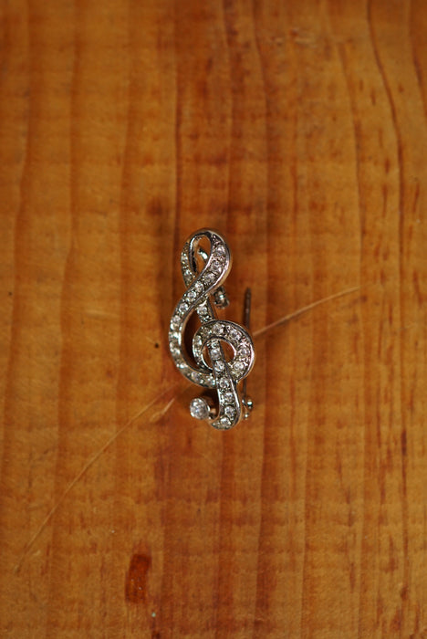 Sparkle G Clef Pin