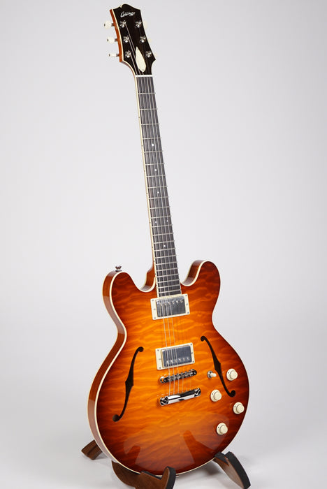 Collings I-35 Deluxe Iced Tea Burst Premium Quilted Maple