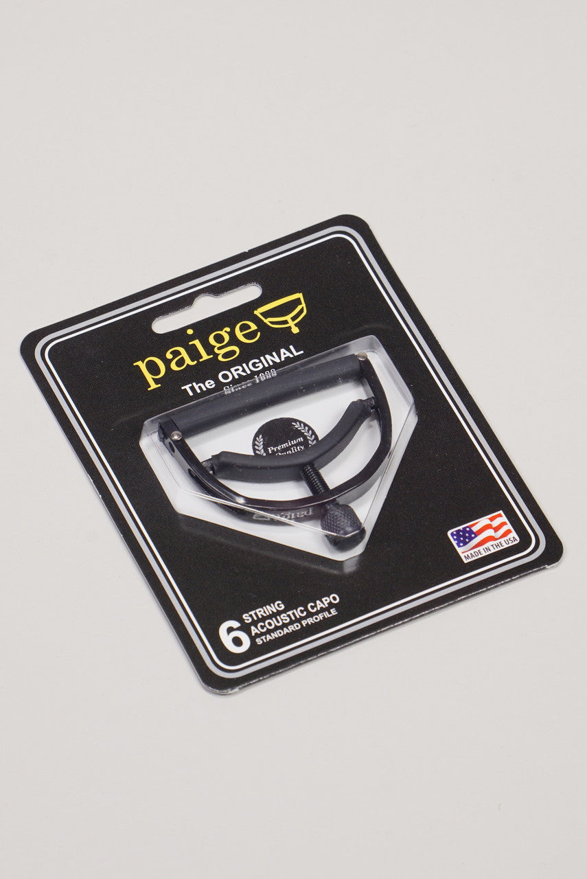 Paige 6-string Standard Acoustic Guitar Capo - Black